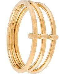 jw anderson three-hoop bangle bracelet - gold