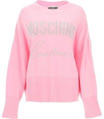 moschino moschino couture lurex sweater