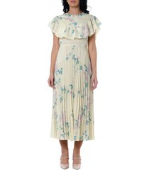 red valentino crepe de chine floral print dress
