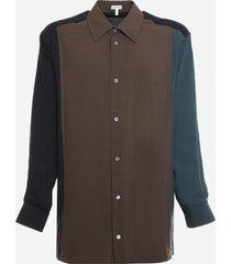 loewe color-block viscose shirt