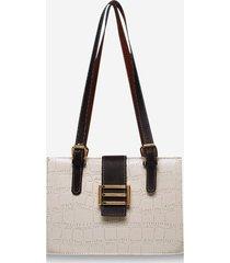 colorblock textured square shoulder bag