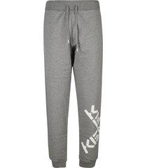 kenzo cross logo track pants