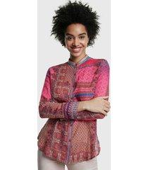 blusa desigual multicolor - calce regular