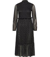 dress knitted fabric knälång klänning svart taifun