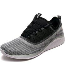 tenis running gris-negro asics fuzetora twist