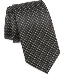 men's nordstrom aberlin micro neat silk tie, size regular - black