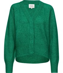 brook knit boxy cardigan gebreide trui cardigan groen second female