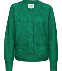 brook knit boxy cardigan gebreide trui cardigan groen second female