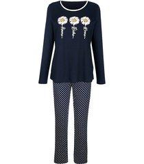 pyjama blue moon marine::wit