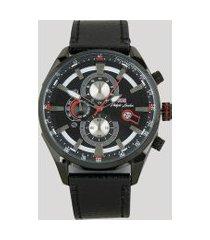 relógio cronógrafo philiph london masculino - pl80074612m preto