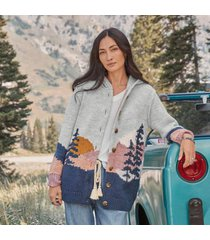 sundance catalog women's scenic roads cardigan in landscape large
