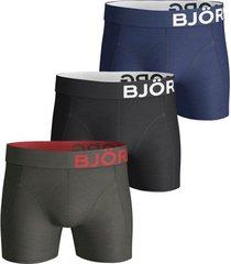 bjorn borg short 3-pak seasonal solids groen
