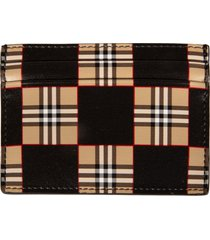 burberry stripe print card holder