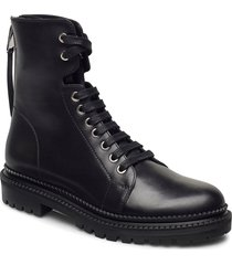 katlin biker-c shoes boots ankle boots ankle boot - flat svart boss