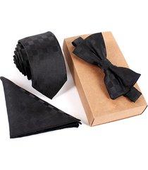tie vintage business tie sets collo tie bow tie pocket telo quadrato per la riunione di nozze e di partito
