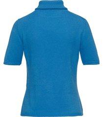 coltrui model rebecca van 100% kasjmier van peter hahn cashmere blauw