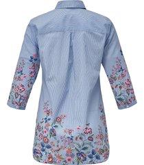 blouse met 3/4-mouwen van emilia lay blauw