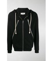 maison margiela zipped details hoodie