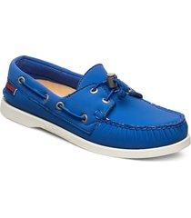 docksides ariaprene loafers låga skor blå sebago