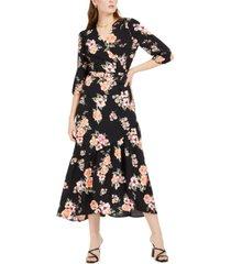 bar iii bloom wrap maxi dress, created for macy's
