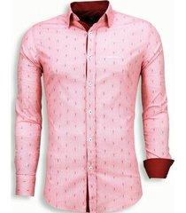overhemd lange mouw tony backer blouse draad pattern