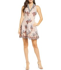women's harlyn embroidered fit & flare dress