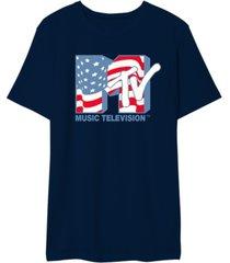 mtv men's american flag tee