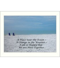 """trendy decor 4u a place near the ocean by trendy decor4u, printed wall art, ready to hang, white frame, 14"""" x 10"""""""