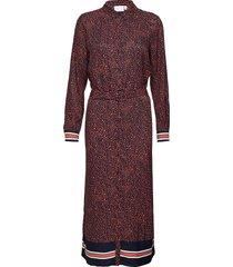 dress w. front breast pockets in ra knälång klänning röd coster copenhagen