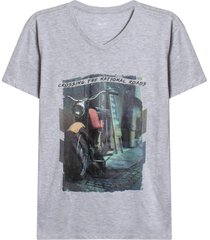 camiseta con screen crossing the national roads color gris,talla l