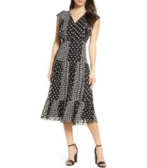 women's sam edelman reverse dot midi dress