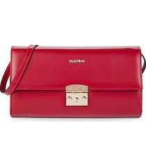 valentino by mario valentino women's cocotte leather convertible clutch - poppy red