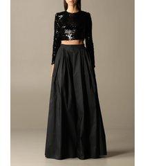 elisabetta franchi suit separate elisabetta franchi top + skirt set with sequins