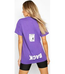 back print oversized t-shirt, purple