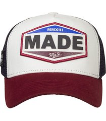 bonã© made in mato trucker vintage bordã´ - branco - dafiti