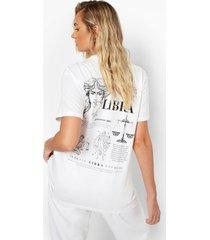 libra sterrenbeeld t-shirt met rugopdruk, white