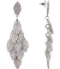 nina layered crystal leaf earring