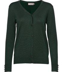 cardigan-knit light stickad tröja cardigan grön brandtex