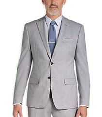 calvin klein x-fit infinite stretch light gray extreme slim fit suit