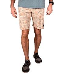 men's tropical print flat front gurkha shorts