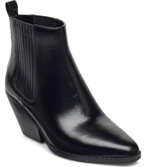 sinclair bootie shoes boots ankle boots ankle boot - heel svart michael kors