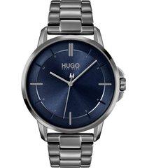 reloj gris hugo boss