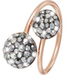 anello in argento 925 rosato e cristalli per donna