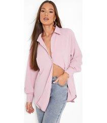 gekreukelde oversized blouse, lilac