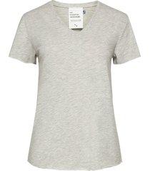 08 the vtee slub yarn jersey t-shirts & tops short-sleeved grå denim hunter