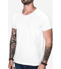 camiseta básica hermoso compadre gola rasgada masculina