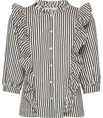 hanni shirt blus långärmad grå lollys laundry