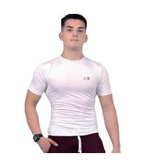 camiseta m rashguard academia masculina vinni branca