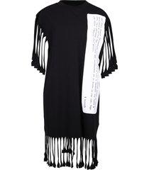 mm6 maison margiela fringed dress