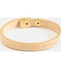 live in the moment leather wrap bracelet - taupe